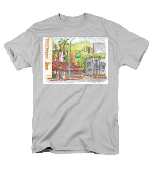 Cabo Cantina, Sunset Blvd And Sweetzer Ave., West Hollywood, California Men's T-Shirt  (Regular Fit) by Carlos G Groppa