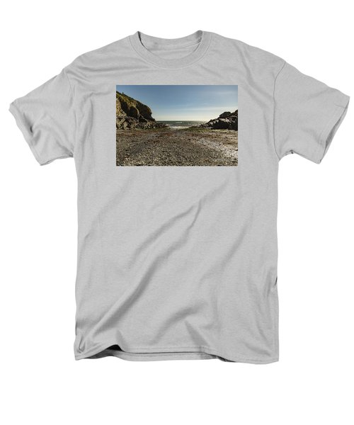 Men's T-Shirt  (Regular Fit) featuring the photograph Cadgwith Cove Beach by Brian Roscorla