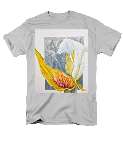 Men's T-Shirt  (Regular Fit) featuring the painting Calla Lily by Carolyn Rosenberger