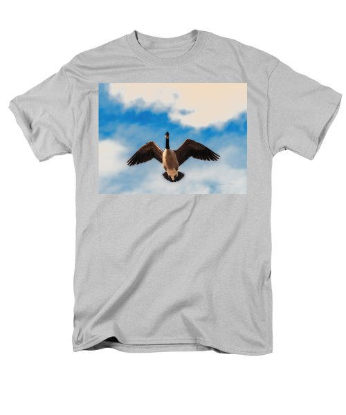 Men's T-Shirt  (Regular Fit) featuring the photograph Canada Geese In Spring by Edward Peterson