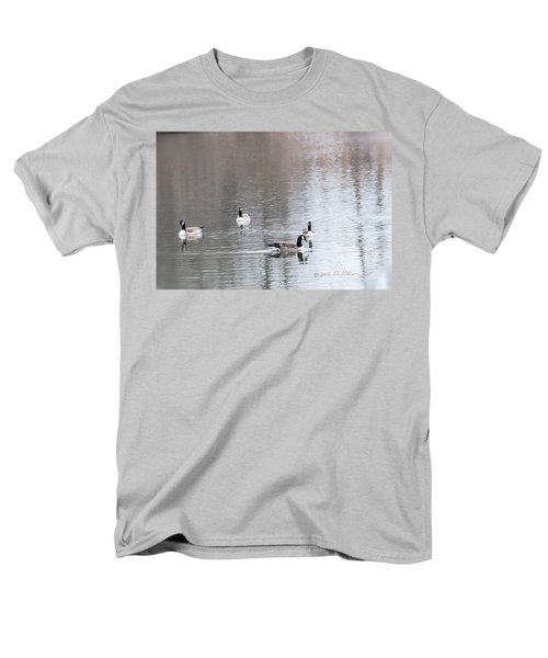 Men's T-Shirt  (Regular Fit) featuring the photograph Canada Geese Swing by Edward Peterson