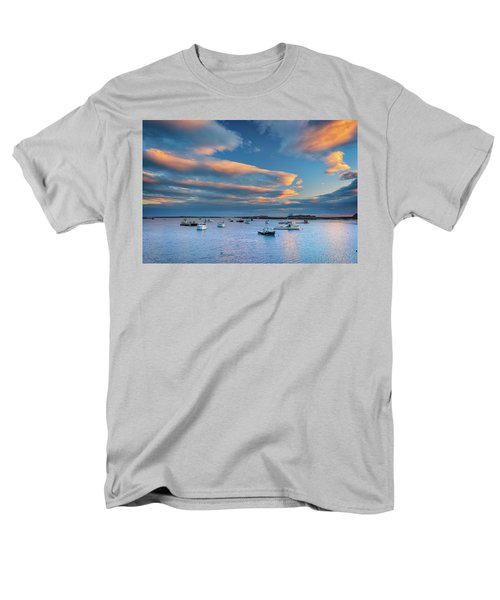 Men's T-Shirt  (Regular Fit) featuring the photograph Cape Porpoise Harbor At Sunset by Rick Berk