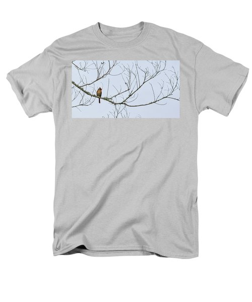 Men's T-Shirt  (Regular Fit) featuring the photograph Cardinal In Tree by Richard Rizzo