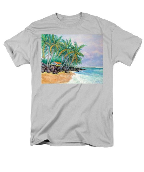 Men's T-Shirt  (Regular Fit) featuring the painting Caribbean Retreat by Susan DeLain