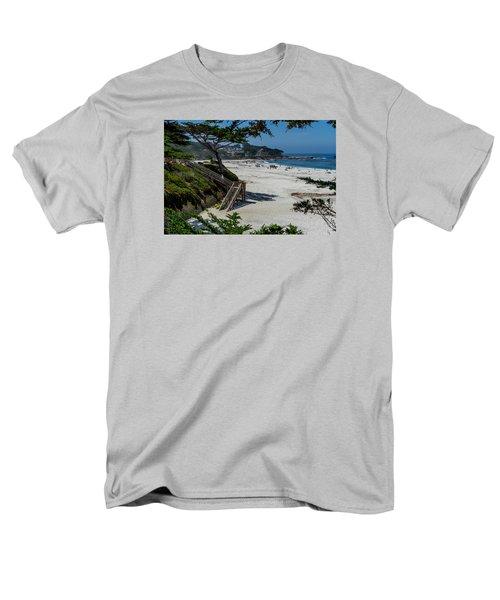Carmel Beach Stairs Men's T-Shirt  (Regular Fit) by Derek Dean