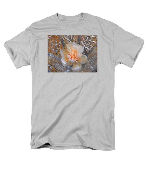 Carnation In Cut Glass 7 Men's T-Shirt  (Regular Fit) by Lynda Lehmann