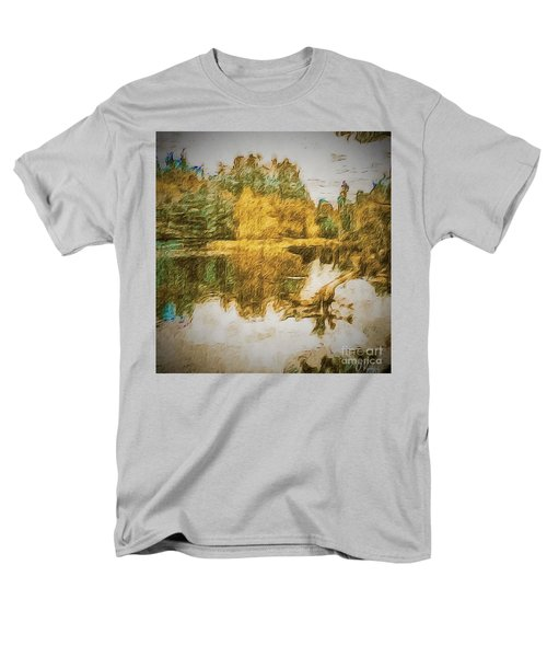 Men's T-Shirt  (Regular Fit) featuring the photograph Cascade Lake by William Wyckoff