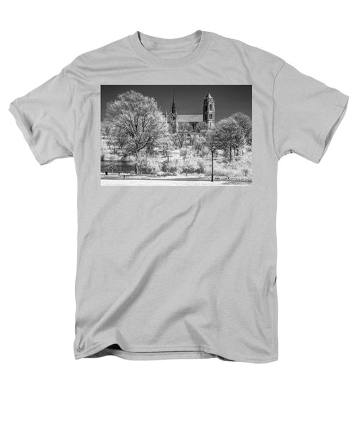 Men's T-Shirt  (Regular Fit) featuring the photograph Cathedral Basilica Of The Sacred Heart Ir by Susan Candelario