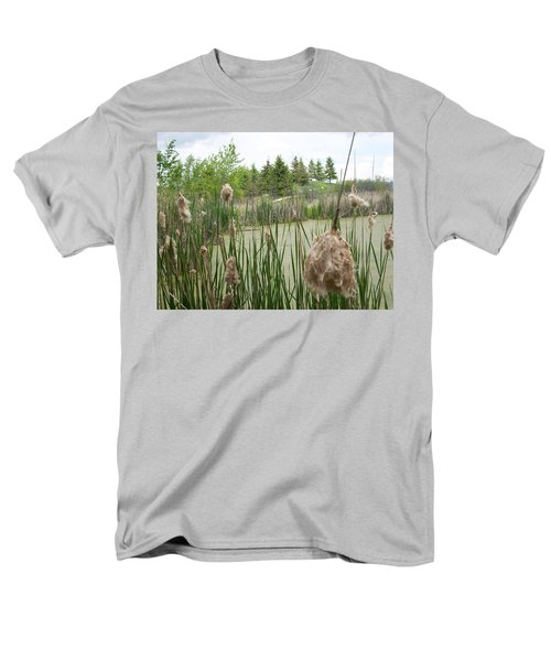Men's T-Shirt  (Regular Fit) featuring the photograph Cattails by Mary Mikawoz