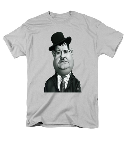 Celebrity Sunday - Oliver Hardy Men's T-Shirt  (Regular Fit) by Rob Snow