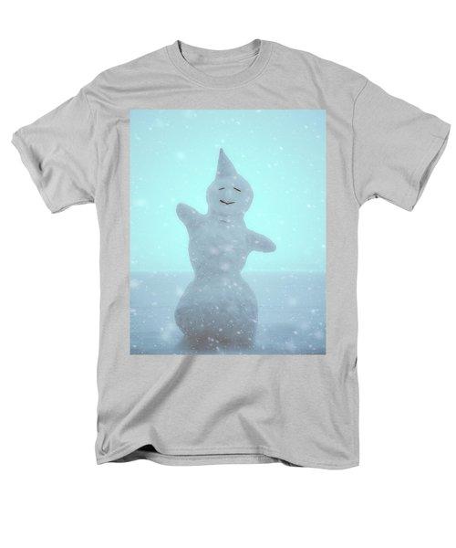 Men's T-Shirt  (Regular Fit) featuring the photograph Cheerful Snowman by Ari Salmela