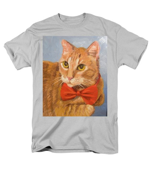 Cheetoh Cat Portrait Men's T-Shirt  (Regular Fit) by Alice Leggett