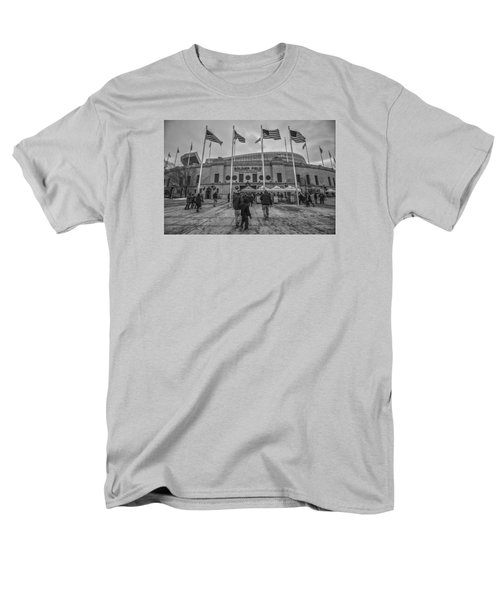 Chicago Bears Soldier Field Black White 7861 Men's T-Shirt  (Regular Fit) by David Haskett