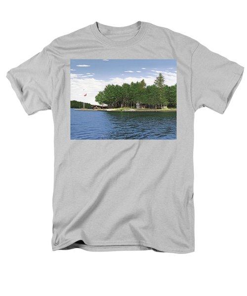 Men's T-Shirt  (Regular Fit) featuring the painting Christmas Island Muskoka by Kenneth M Kirsch