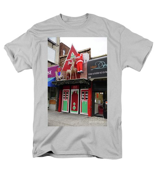 Men's T-Shirt  (Regular Fit) featuring the photograph Christmas On Sherman Avenue  by Cole Thompson