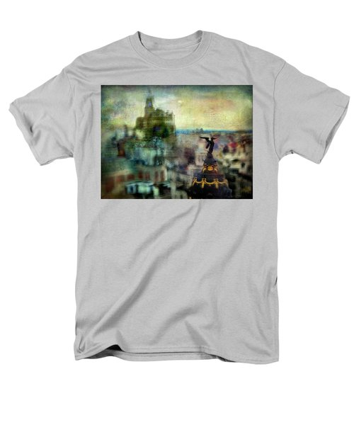 Cityscape 38 - Homeless Angels Men's T-Shirt  (Regular Fit) by Alfredo Gonzalez