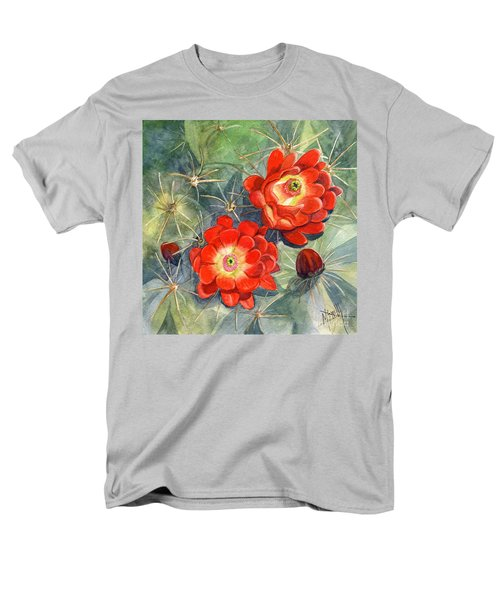 Claret Cup Cactus Men's T-Shirt  (Regular Fit) by Marilyn Smith