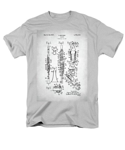 Men's T-Shirt  (Regular Fit) featuring the digital art Clarinet Patent by Taylan Apukovska