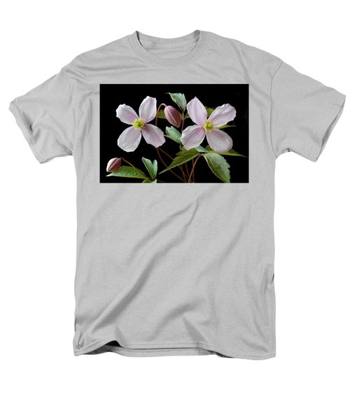 Men's T-Shirt  (Regular Fit) featuring the photograph Clematis Montana Rubens by Terence Davis