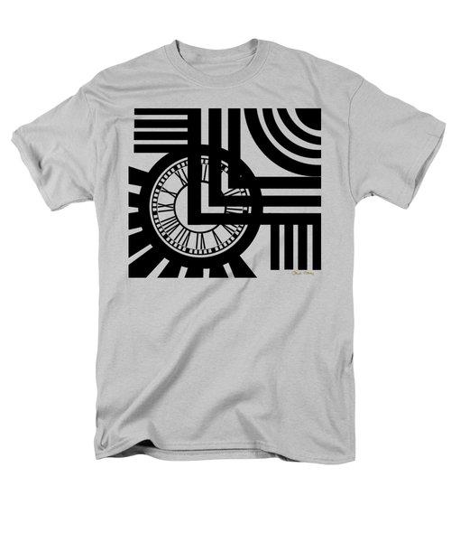 Men's T-Shirt  (Regular Fit) featuring the digital art Clock Design by Chuck Staley
