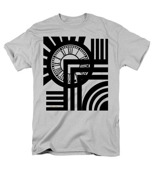 Men's T-Shirt  (Regular Fit) featuring the digital art Clock Design Vertical by Chuck Staley