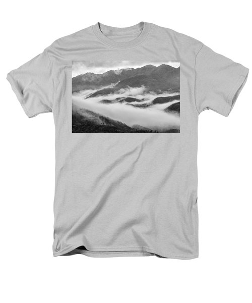 Men's T-Shirt  (Regular Fit) featuring the photograph Clouds In Valley, Sa Pa, 2014 by Hitendra SINKAR