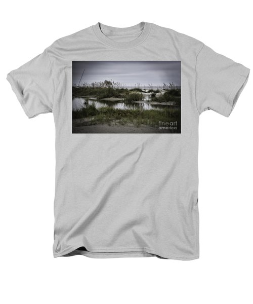 Men's T-Shirt  (Regular Fit) featuring the photograph Cloudy Beach Day by Judy Wolinsky