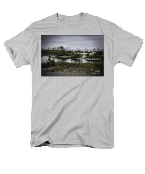 Cloudy Beach Day Men's T-Shirt  (Regular Fit) by Judy Wolinsky