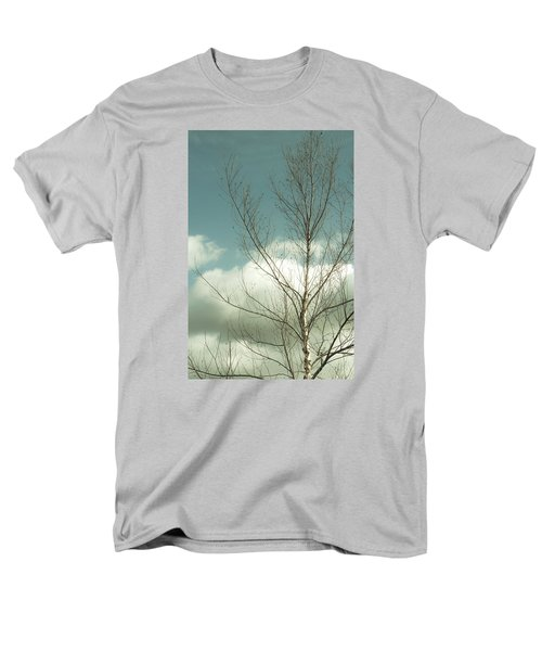 Cloudy Blue Sky Through Tree Top No 2 Men's T-Shirt  (Regular Fit) by Ben and Raisa Gertsberg