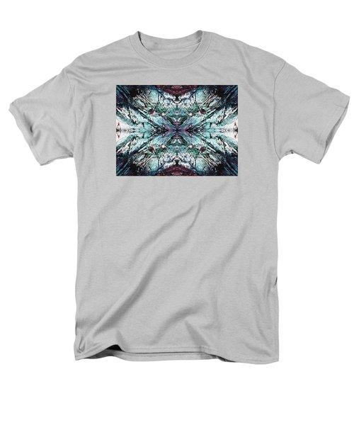 Coastal Rocks Brillig Turquoise Kaleidoscope Effect Men's T-Shirt  (Regular Fit) by Joy Nichols