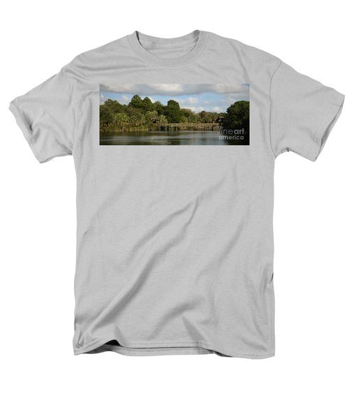 Men's T-Shirt  (Regular Fit) featuring the photograph Coastal Serenity by Pamela Blizzard