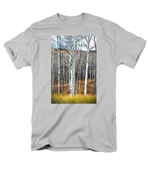 Colorado Fall Aspen Men's T-Shirt  (Regular Fit) by James Steele