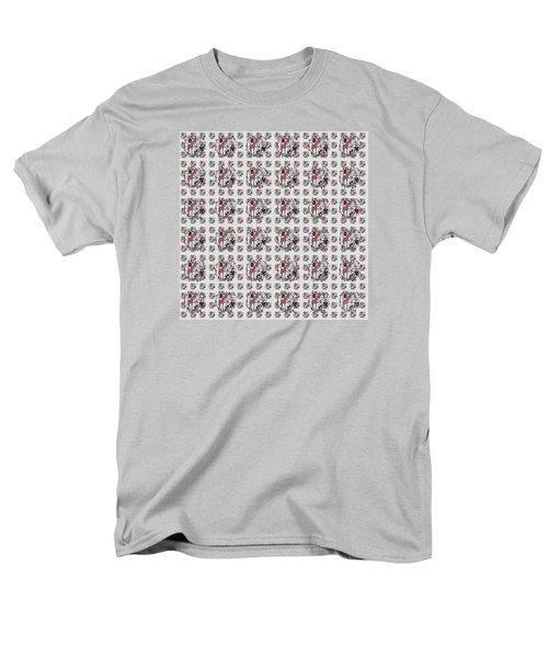 Colorful Giraffe Illustration Pattern Men's T-Shirt  (Regular Fit) by Saribelle Rodriguez