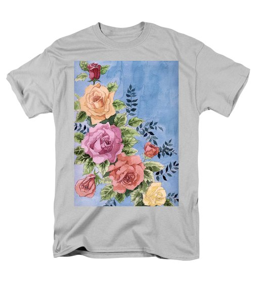 Colorfull Roses Men's T-Shirt  (Regular Fit) by Alban Dizdari