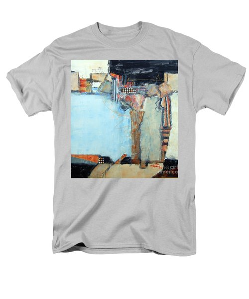 Men's T-Shirt  (Regular Fit) featuring the painting Columns by Ron Stephens