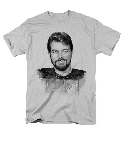 Commander William Riker Star Trek Men's T-Shirt  (Regular Fit) by Olga Shvartsur