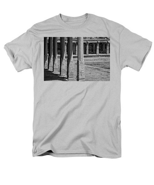 Men's T-Shirt  (Regular Fit) featuring the photograph Composition Of Pillars, Hampi, 2017 by Hitendra SINKAR