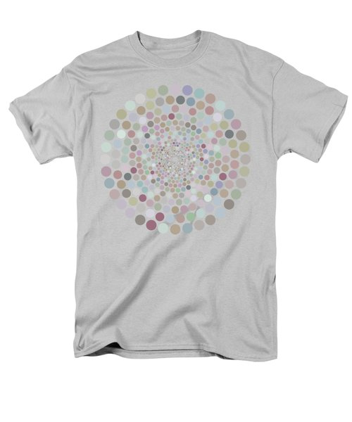 Men's T-Shirt  (Regular Fit) featuring the painting Vortex Circle - Gray by Hailey E Herrera