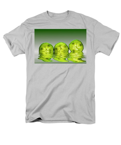 Cool As A Cucumber Slices Men's T-Shirt  (Regular Fit) by David French