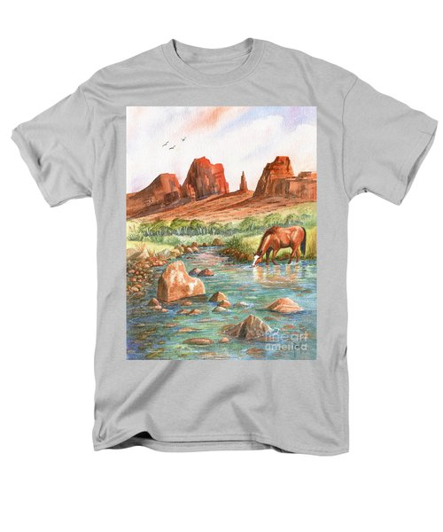 Men's T-Shirt  (Regular Fit) featuring the painting Cool, Cool Water by Marilyn Smith