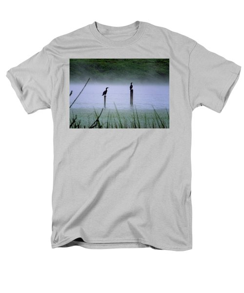 Cormorants Men's T-Shirt  (Regular Fit) by Art Shimamura