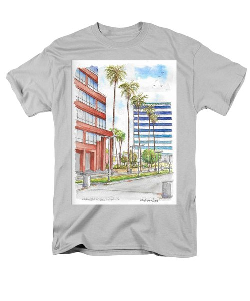 Corner Wilshire Blvd. And Curson, Miracle Mile, Los Angeles, Ca Men's T-Shirt  (Regular Fit) by Carlos G Groppa