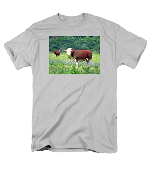 Men's T-Shirt  (Regular Fit) featuring the painting Cow Today by Angela Annas