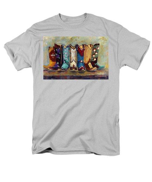 Cowgirls Kickin The Blues Men's T-Shirt  (Regular Fit) by Frances Marino