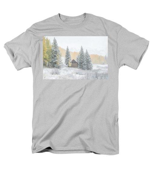 Cozy Cabin Men's T-Shirt  (Regular Fit) by Kristal Kraft