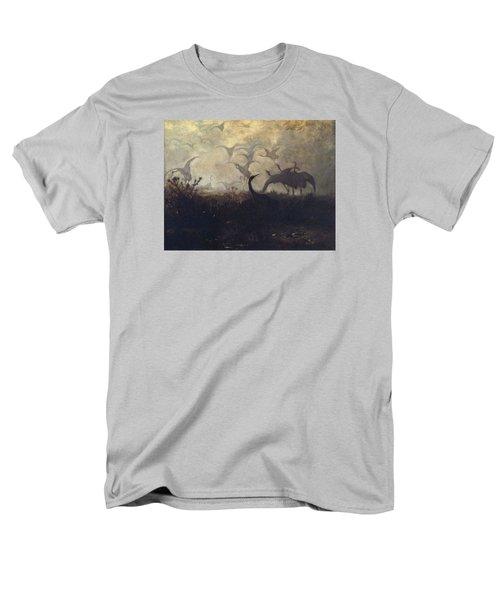 Cranes Take Off Men's T-Shirt  (Regular Fit)