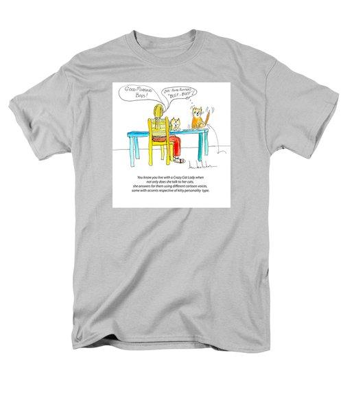 Crazy Cat Lady 0009 Men's T-Shirt  (Regular Fit) by Lou Belcher