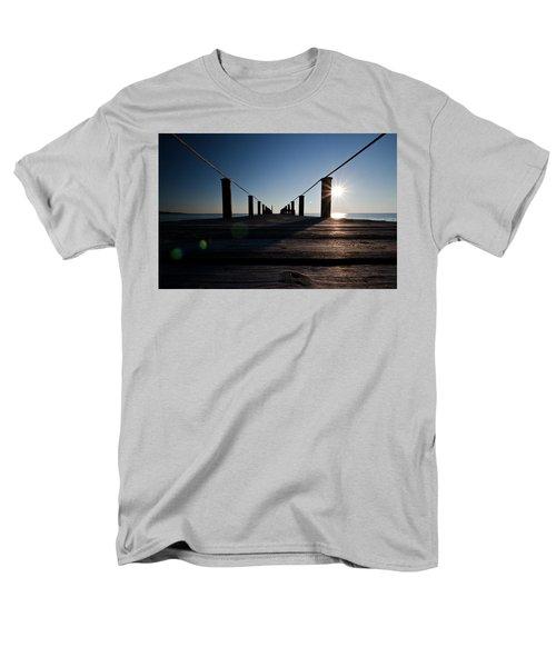 Currituck Sunset Men's T-Shirt  (Regular Fit) by David Sutton