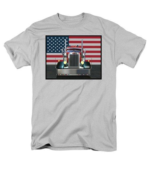 Custom Peterbilt 2 Men's T-Shirt  (Regular Fit) by Stuart Swartz