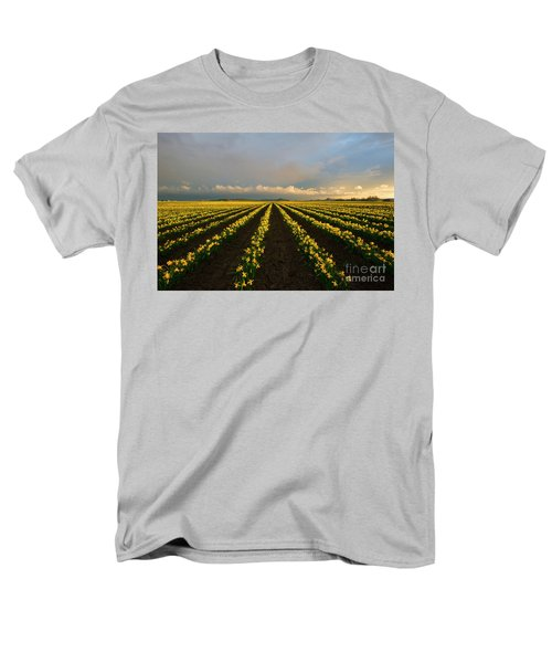 Men's T-Shirt  (Regular Fit) featuring the photograph Daffodil Storm by Mike Dawson